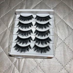 Other - 5 pair False Eyelashes Faux Mink